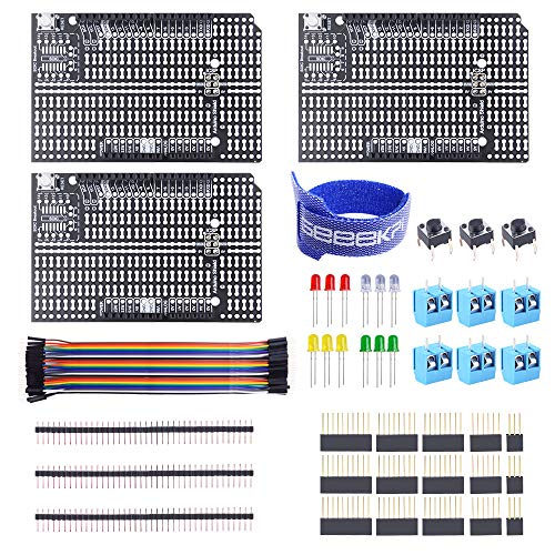 GeeekPi 3Pack Arduino Prototyp Shield Board Kit, DIY Erweiterungs Proto Platine für Arduino