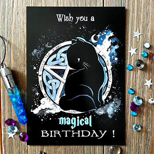 Katzen Postkarte zum Geburtstag,