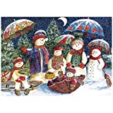 Christmas Jigsaw Puzzles 1000 Pieces for Adult, Snowman Family, Hard Difficult Jigsaw Puzzles Set, Best Jigsaw Puzzles Game (30x20 inch)