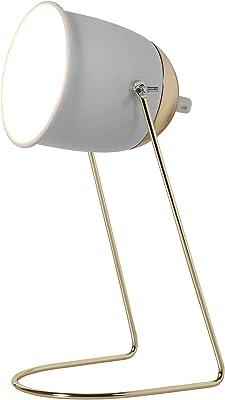 Ostaria 32644 Lampe de bureau, Couleur Blanche et dorée