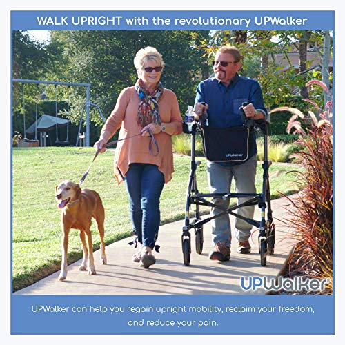 UPWalker Original Upright Walker – Stand Up Rollator Walker & Walking Aid with Seat – Standard Size