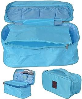 Travel Underwear Bag Organizer light blue