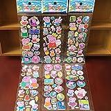 Sammelkarten–Das Zufällige Lot-3pcs Stickers/Aufkleber Familie Cochino Statue Mama, Papa,...