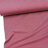 Doppelmoppel Bio Jersey Stoff Streifen Ringel magenta rot,