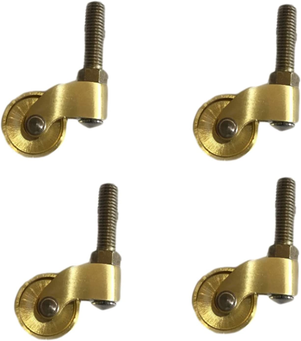 Sofas 2 Piece Furniture Casters Brass Furniture Suitable for Piano Feet Threaded Stem Caster Wheel,Non-Slip Hardware Accessories, with Screws