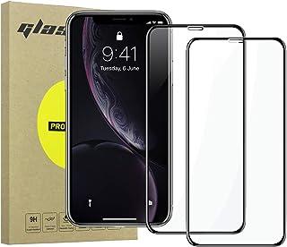 Simpeak 2-Packs Cristal Templado para iPhone XR, Protector de Pantalla iPhone XR Premium Protección Complet Bubble Free/HD Clear, Negro