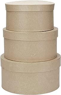 Darice 2849-04 Value Pack Round Paper Mache Box Set, 4, 5 & 6