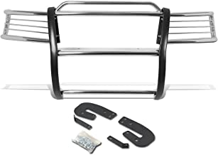 DNA MOTORING Silver GRILL-G-051-SS Front Bumper Brush Grille Guard
