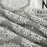 Meiosuns Grey Retro Tischdecke Rechteckige Tischdecke Baumwolle Leinen Tischdecke Geeignet für Home Küche Dekoration, Verschiedene Größen (130x180cm) - 5