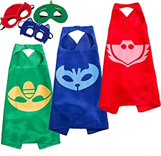 Hallowen Costumes Capes and Masks for Kids Compatible Superhero Cape and Dress up Kids Best Gifts