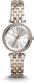 ساعة بيتيت دارسي للنساء بمينا باللون الفضي وعرض انالوج وسوار من الستانلس ستيل من مايكل كورس - MK3298