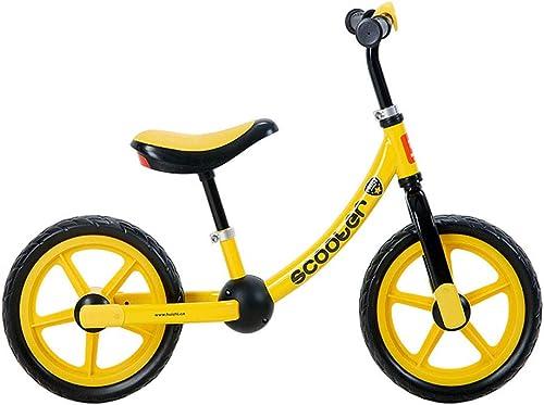 YANWE Draisienne Vélo Enfant Vélo D'équilibre sans Pédale Guidon Et Siège Réglables Poignée Antidérapante pour (2-6 Ans)