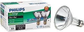 Philips 429365 Halogen PAR30L 75 Watt Equivalent 25 Degree Flood Light Bulb, 2 Pack