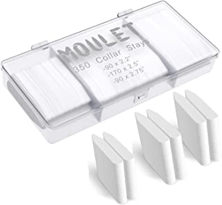 350 Plastic Collar Stays in a Divided Box for Men - 3 Sizes by Moulet