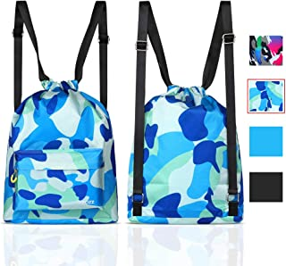 COPOZZ Waterproof Gym Swimming Drawstring Backpack, Lightweight Dry Wet Separated Swim Bag Gym, Beach & Outdoor Activities