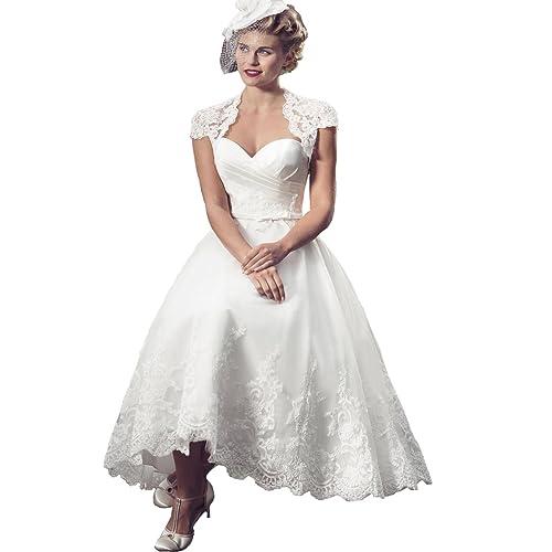 Tea Length Wedding Dresses For Bride Amazon Com