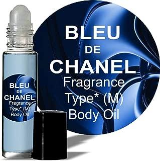 Coco Bleu de Type Fragrance for Men Body Oil (M) Cologne 1/3 oz roll on Glass Bottle