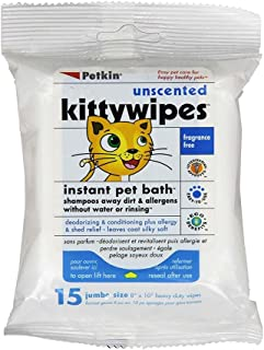 Petkin Unscented Kitty Wipes