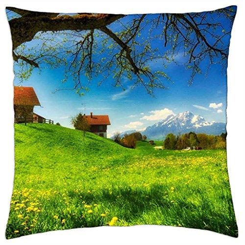 Welcome Spring–throw pillow cover case (18