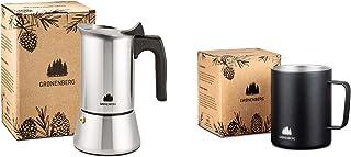 Groenenberg Spar-Pack 8 | kaffe kopp i rostfritt stål + espressobryggare induktion 4 koppar rostfritt stål | kaffebryggare