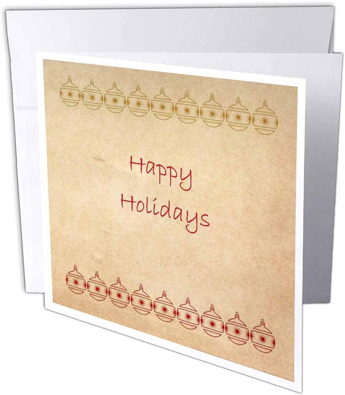 3dRosa gc_28051_1 Grußkarte Vintage Holidays Christmas Christmas Christmas Ornaments , 15,2 x 15,2 cm, 6 Stück B07BJC7NSY   Economy  f95d42