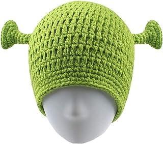 UnionPower Shrek Hats, Keep Warm in Winter, Adult Cosplay Halloween Cosplay, St. Patrick's Day Headband Green