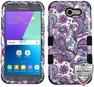 Wydan Case for Samsung Galaxy J3 Emerge / J3 2017 / J3 Prime / J3 Mission / J3 Eclipse / J3 Luna Pro/Sol 2 / Amp Prime 2 / Express Prime 2 - Hybrid Shockproof Protective Phone Cover - Paisley