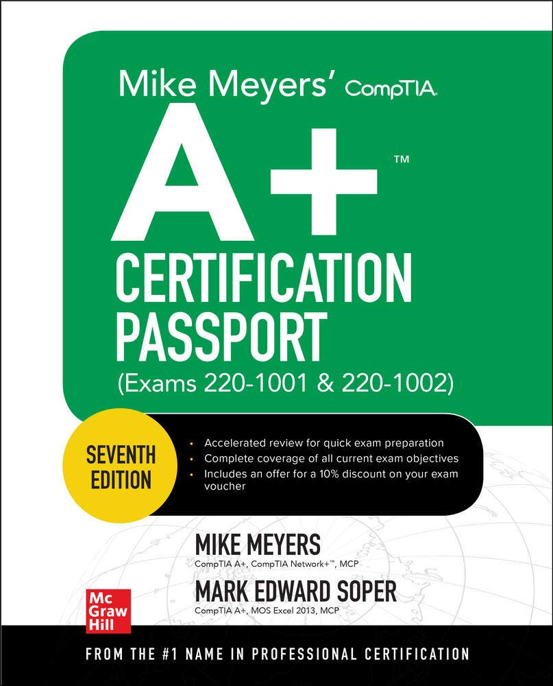 Image OfMike Meyers' Comptia A+ Certification Passport, Exams 220-1001 & 220-1002