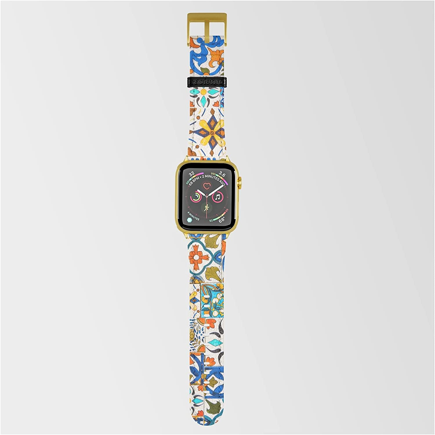 Moroccan Mosaic Quality inspection Ii by Mmartabc wit Compatible on Super Special SALE held Smartwatch Band