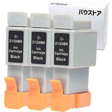 Canon BCI-21 兼 BCI-24 ブラック 3個 互換インクカートリッジ【バウストア】