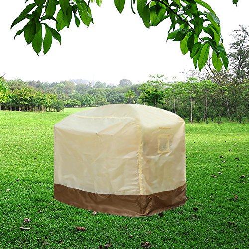 BBQ Couvercle, CONMING Extra Large 183x66x130cm Housse de barbecue durable Housse de protection All Weather Heavy Dust Imperméable respirant Barbecue Oxford Tissu pour jardin extérieur Patio (M 150(L) * 61(W) * 122(H)cm)