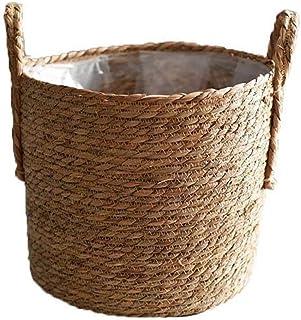 Main Tiss/é Pots de Fleurs pour D/écoration Int/érieure ou Ext/érieure Herefun 3Pcs Panier de Rangement pour Pot de Fleur Panier /à Plantes Suspendu Naturel Panier Seagrasss