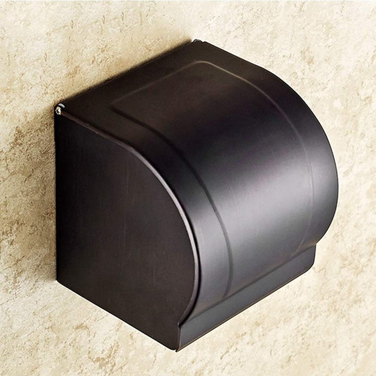 LUDSUY Bathroom Accessories Bathroom Toilet Paper Holder Roll Tissue Box Bathroom Kitchen Wall Mounted Roll Paper Holder Home Decoration