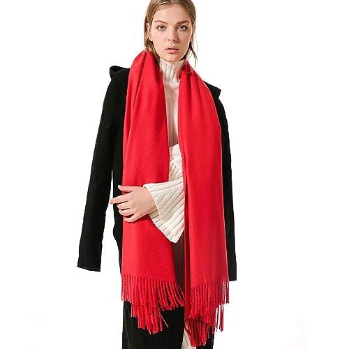 FRIDIROU Soft Cashmere Wool Wraps Pashmina Stole Scarf oversized 78