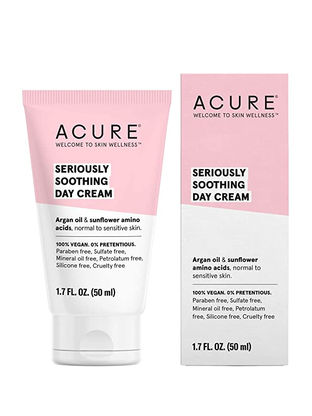 フランクワースリー接辞返還Acure Organics, Sensitive Facial Cream, Argan Oil + Probiotic, Unscented, 1.75 oz (50 ml)