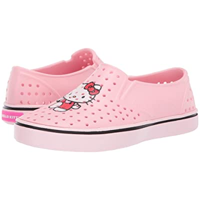 Native Kids Shoes Miles Print (Little Kid) (Lantern Pink/Blossom Pink/Hello Kitty) Girls Shoes