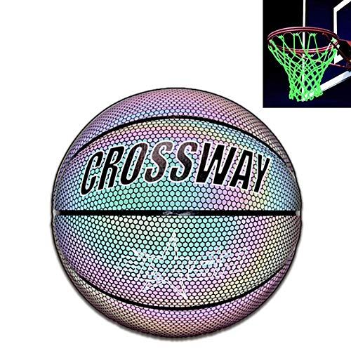 Best Price! Luminous Basketball, Bright Reflective Night Game Street Glowing Basketball NO.7, Glow i...