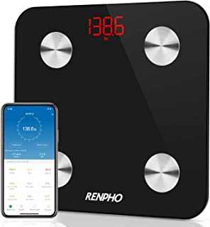 RENPHO Smart Bathroom Scale, Bluetooth Body Fat Monitor Weight Scale, Digital BMI Key Composition Analyzer for Weight, Fat...