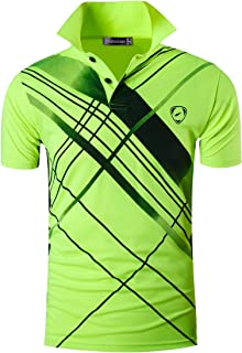870ef443 Jeansian Men's Short Sleeve Quick Dry Polo T-Shirts Wicking Breathable  Running Training Sports Tee