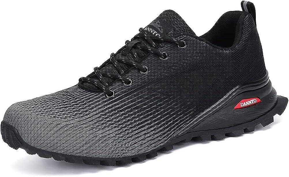 Dannto Zapatillas de Deporte Hombre Zapatos para Correr Aire Libre y Deporte Athletic Cordones Zapatillas De Running Trail Tenis Basket Respirable Gimnasio Sneakers