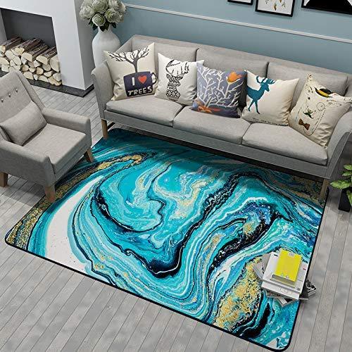 Abstract Zeewater Marble Vergulden Short Crystal Velvet tapijt in de woonkamer, Floor Mat, Children's kussen, Baby kruipen pad, multifunctionele, Antislip en wasbaar, Decor jilisay (Size : 60x90cm)