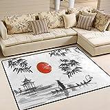 Use7 Traditioneller japanischer Bambus-Teppich für Wohnzimmer, Schlafzimmer, 160 cm x 122 cm
