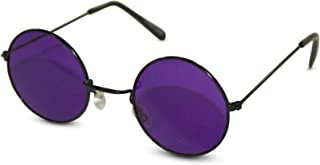 John Lennon Party Sunglasses Round Hippie Shades with Colored Lenses