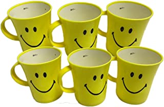 Kids Trends Smiley Mugs for,Return Gifts for Kids Birthday Party (Pack of 6)