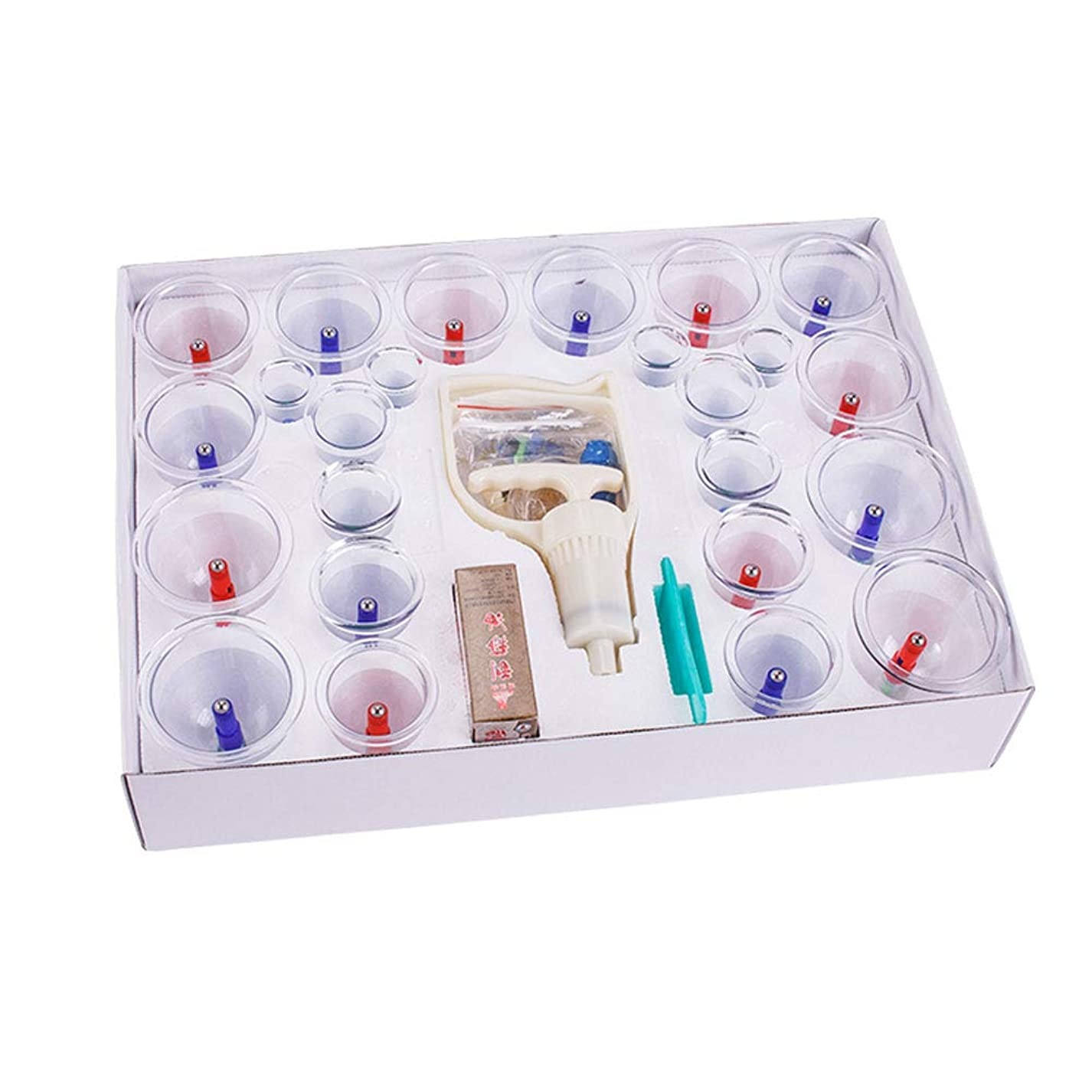二層不適乳剤カッピング装置 - 専門のカッピング治療装置24カップは、大人と高齢者に適したポンプと伸展チューブで設定 美しさ