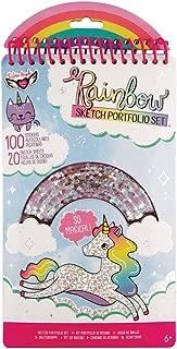 Fashion Angels Rainbow Shaker Compact Sketch Portfolio, Multi
