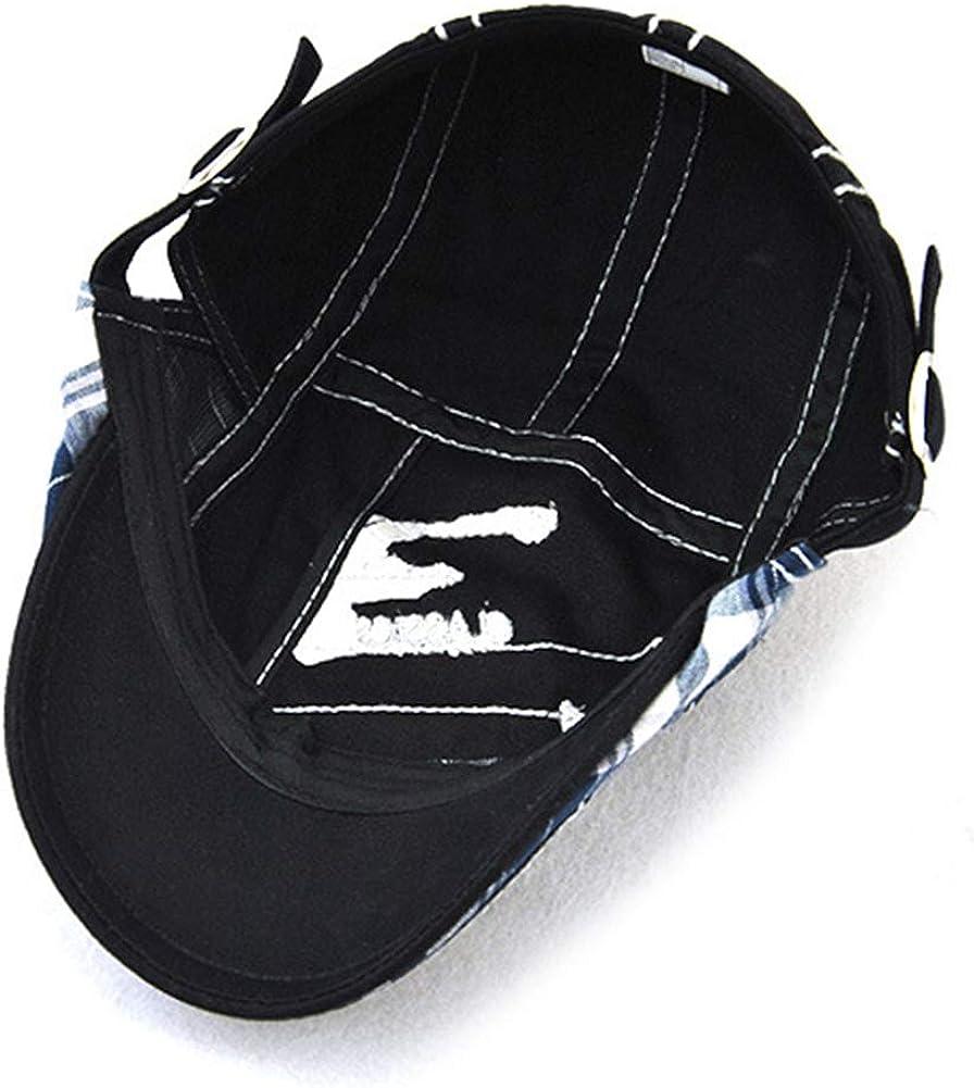 Tioamy Schirmm/ütze Kappe Unisex M/ütze Stickerei Damen Herren M/ütze Flatcap Sportm/ütze Newsboy Cap Beret Cap Cabbie Cap