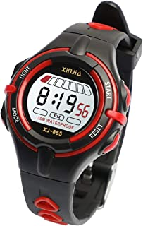 Boys Girls Watch, Functional Sporty Kids Digital Watch Waterproof Time Date Displays/Backlight/Alarm/Chime/Stopwatch Children Wrist Watch with Comfortable Strap