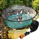 TRELC Trampoline Sprinkler, Outdoor Trampoline Sprinkler for Kids Spray Water Park Fun...