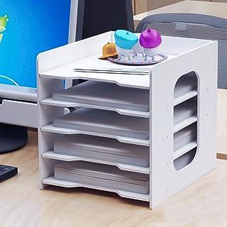 bo/îte de rangement pour fournitures de bureau et accessoires Dor/é Organiseur de bureau en pierre /à mijoter 5 compartiments porte-notes et 1 tiroir porte-stylo Trieur de courrier